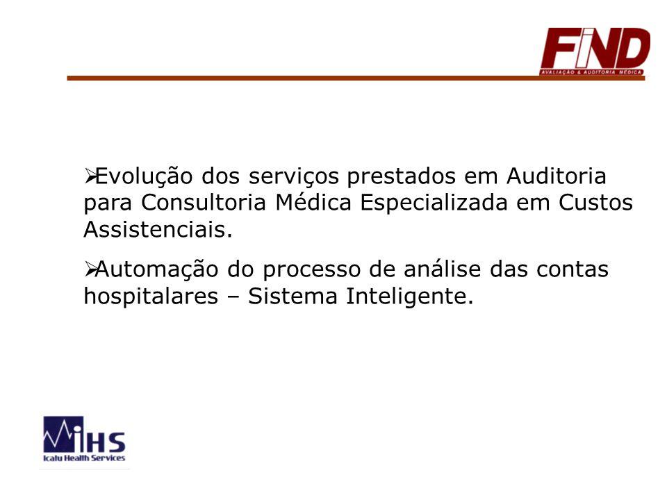 Evolução dos serviços prestados em Auditoria para Consultoria Médica Especializada em Custos Assistenciais. Automação do processo de análise das conta