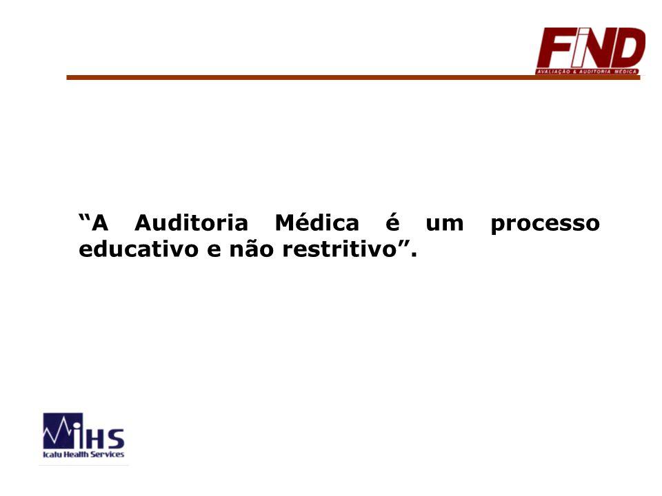 A Auditoria Médica é um processo educativo e não restritivo.
