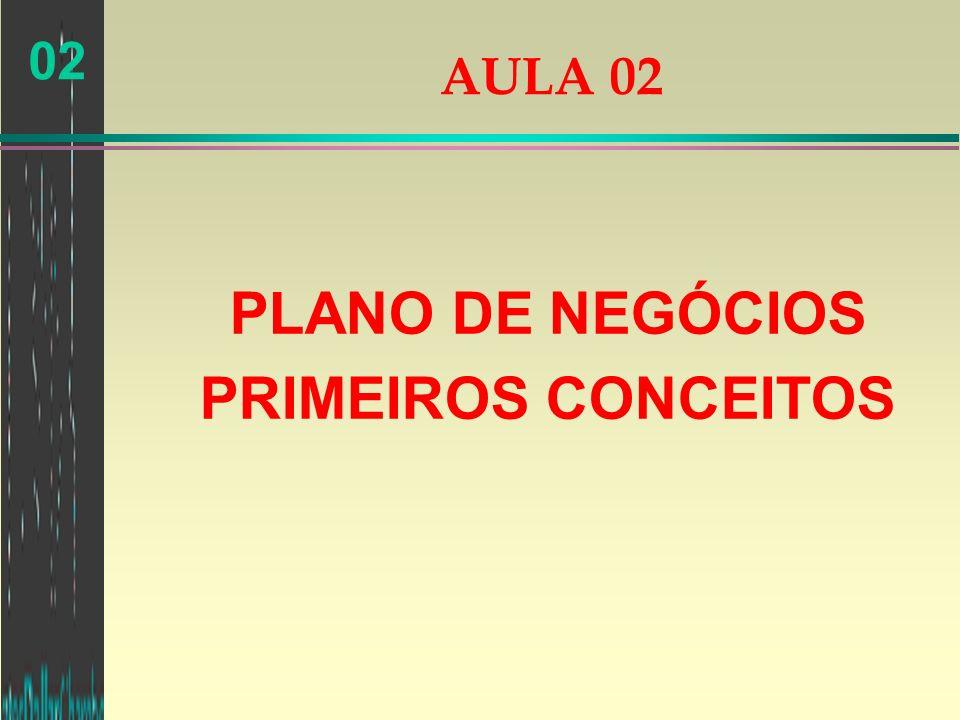 02 AULA 02 PLANO DE NEGÓCIOS PRIMEIROS CONCEITOS