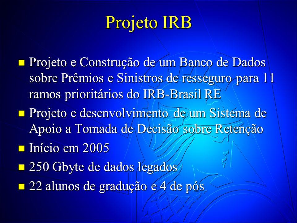 Projeto IRB Projeto e Construção de um Banco de Dados sobre Prêmios e Sinistros de resseguro para 11 ramos prioritários do IRB-Brasil RE Projeto e Con