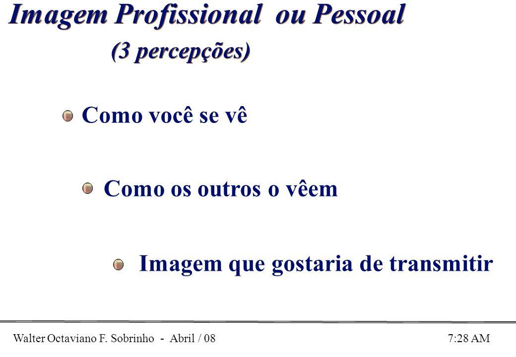 Walter Octaviano F. Sobrinho - Abril / 08 7:28 AM Imagem Profissional ou Pessoal (3 percepções) Imagem Profissional ou Pessoal (3 percepções) Como voc