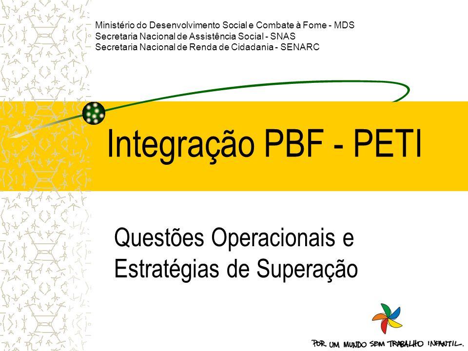 Ministério do Desenvolvimento Social e Combate à Fome - MDS Secretaria Nacional de Assistência Social - SNAS Secretaria Nacional de Renda de Cidadania
