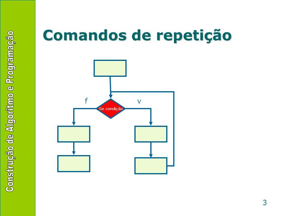 3 Comandos de repetição Se condição vf