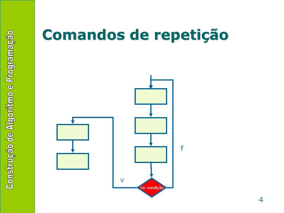 4 Comandos de repetição Se condição v f