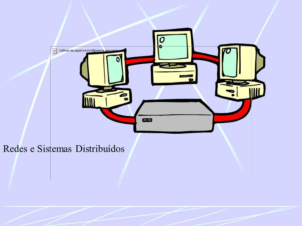 Modelo ISO-OSI Camada de Enlace Organiza sequências de bits em conjuntos de bits chamados frames Reconhece início e fim de frames Detecta perdas de frames e requisita retransmissão