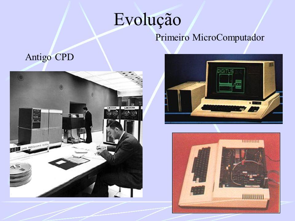Evolução Antigo CPD Primeiro MicroComputador