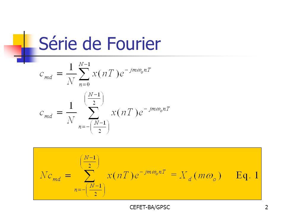 CEFET-BA/GPSC2 Série de Fourier
