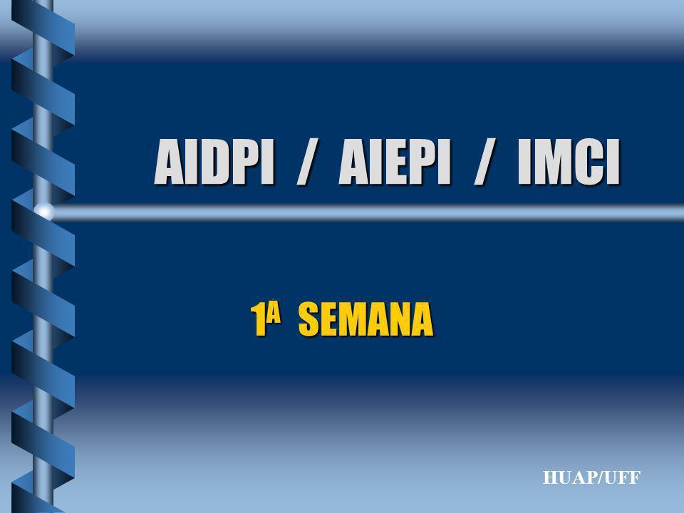 AIDPI / AIEPI / IMCI 1 A SEMANA HUAP/UFF