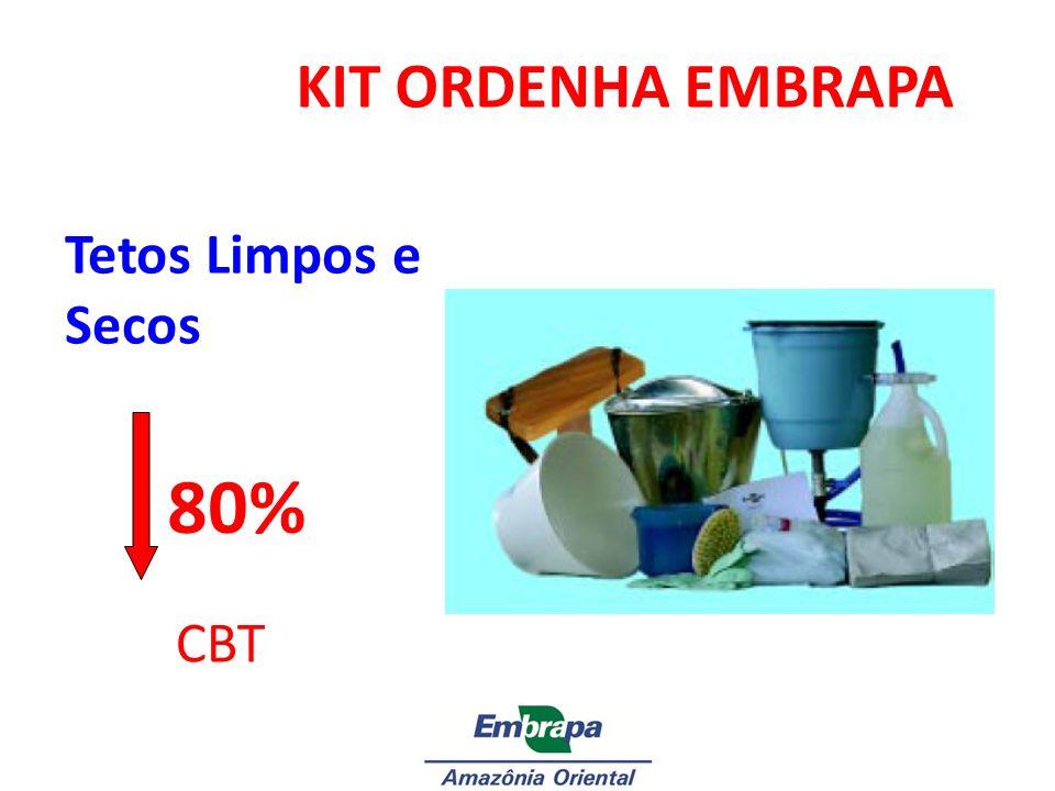 Tetos Limpos e Secos KIT ORDENHA EMBRAPA CBT 80% Foto do KIT