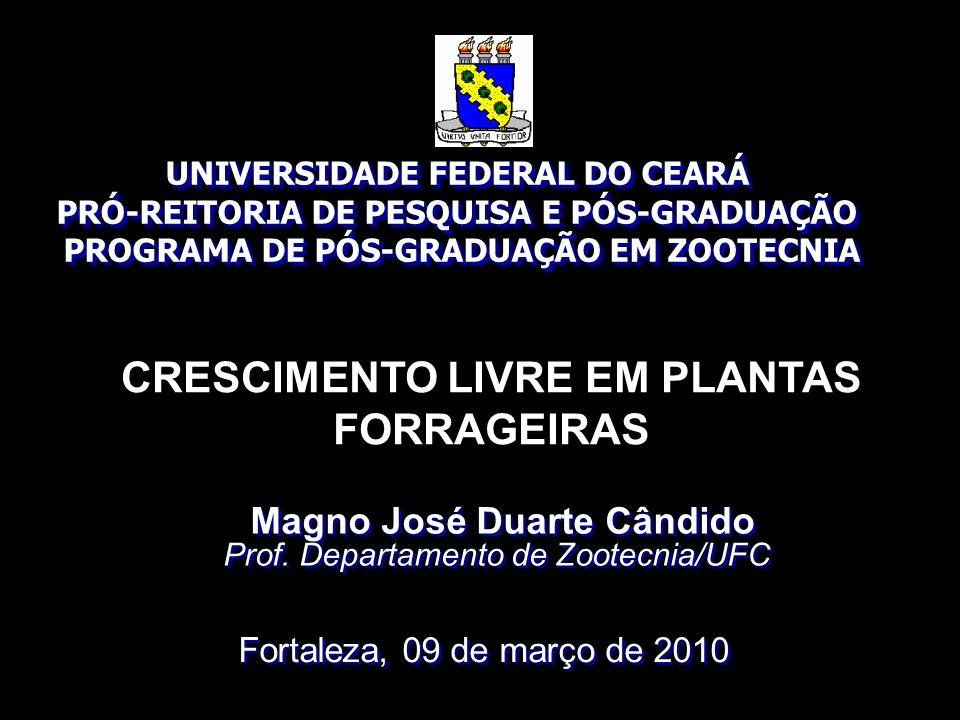 CRESCIMENTO LIVRE EM PLANTAS FORRAGEIRAS UNIVERSIDADE FEDERAL DO CEARÁ PRÓ-REITORIA DE PESQUISA E PÓS-GRADUAÇÃO PROGRAMA DE PÓS-GRADUAÇÃO EM ZOOTECNIA