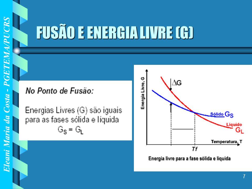 Eleani Maria da Costa - PGETEMA/PUCRS 18 Mudança na composição das fases durante o processo de solidificação