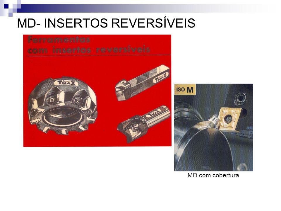 MD- INSERTOS REVERSÍVEIS MD com cobertura