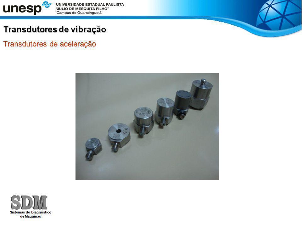 Transdutores de vibração Transdutores de aceleração