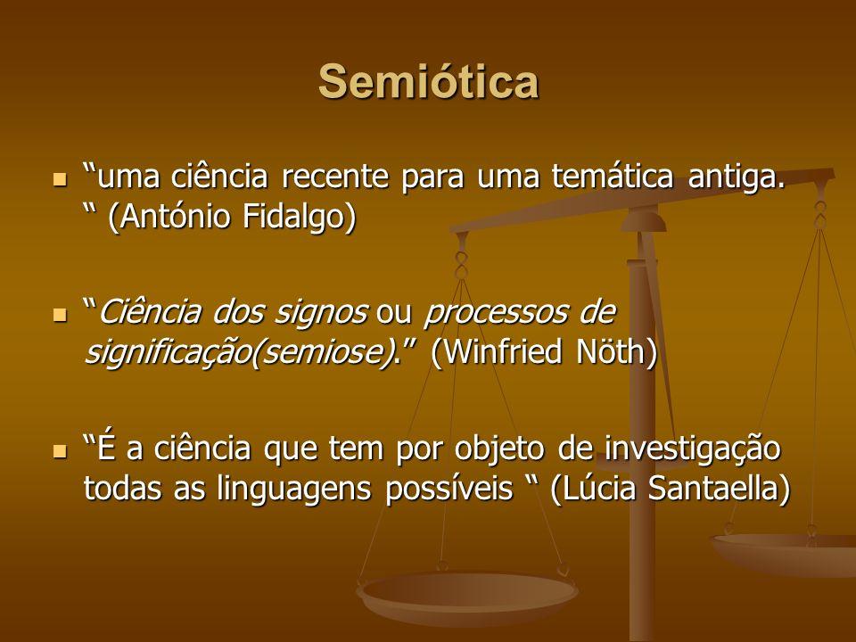 Semiótica uma ciência recente para uma temática antiga. (António Fidalgo) uma ciência recente para uma temática antiga. (António Fidalgo) Ciência dos