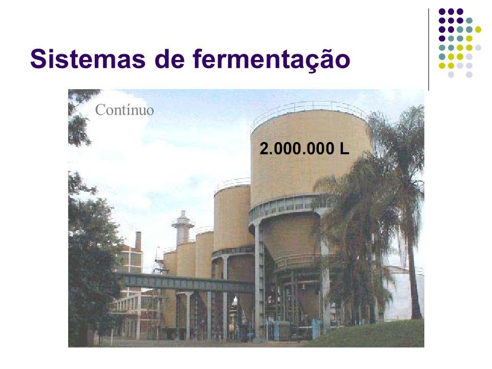 Sistemas de fermentação Contínuo