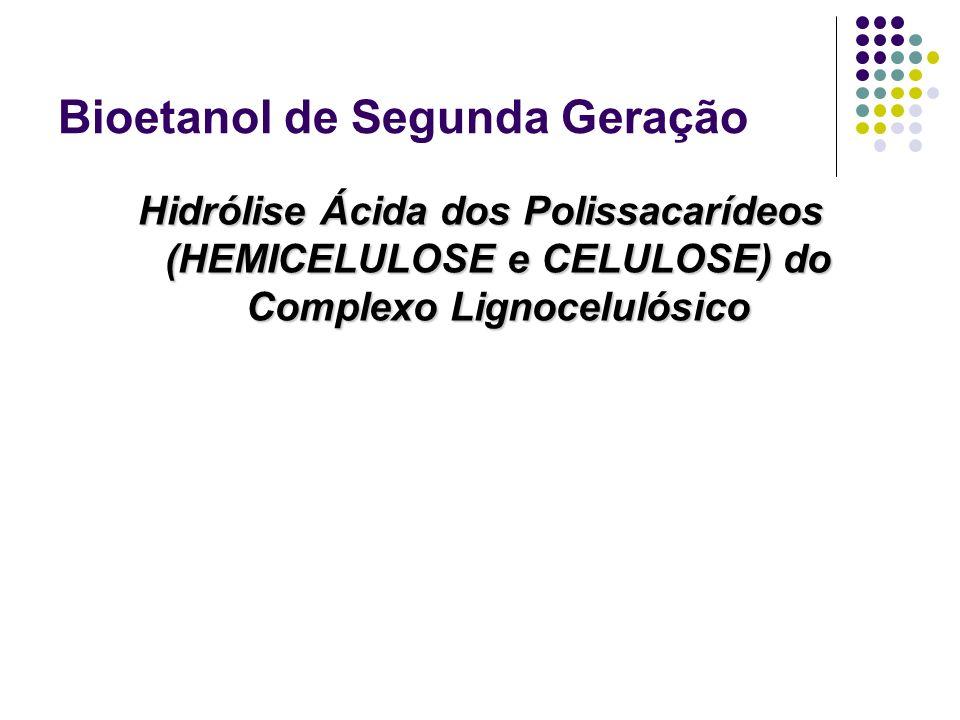 Bioetanol de Segunda Geração Hidrólise Ácida dos Polissacarídeos (HEMICELULOSE e CELULOSE) do Complexo Lignocelulósico