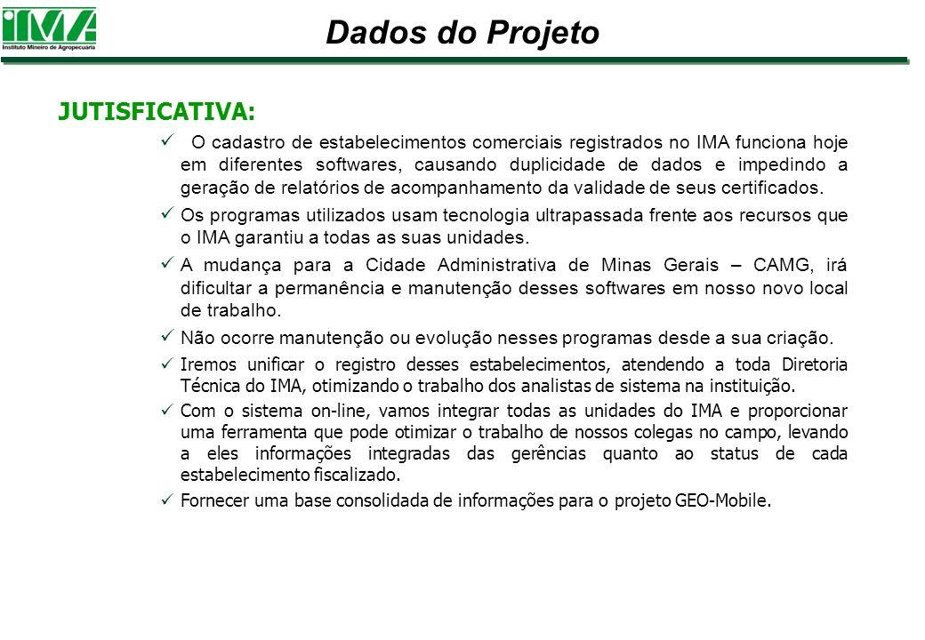 Dados do Projeto JUTISFICATIVA: O cadastro de estabelecimentos comerciais registrados no IMA funciona hoje em diferentes softwares, causando duplicida