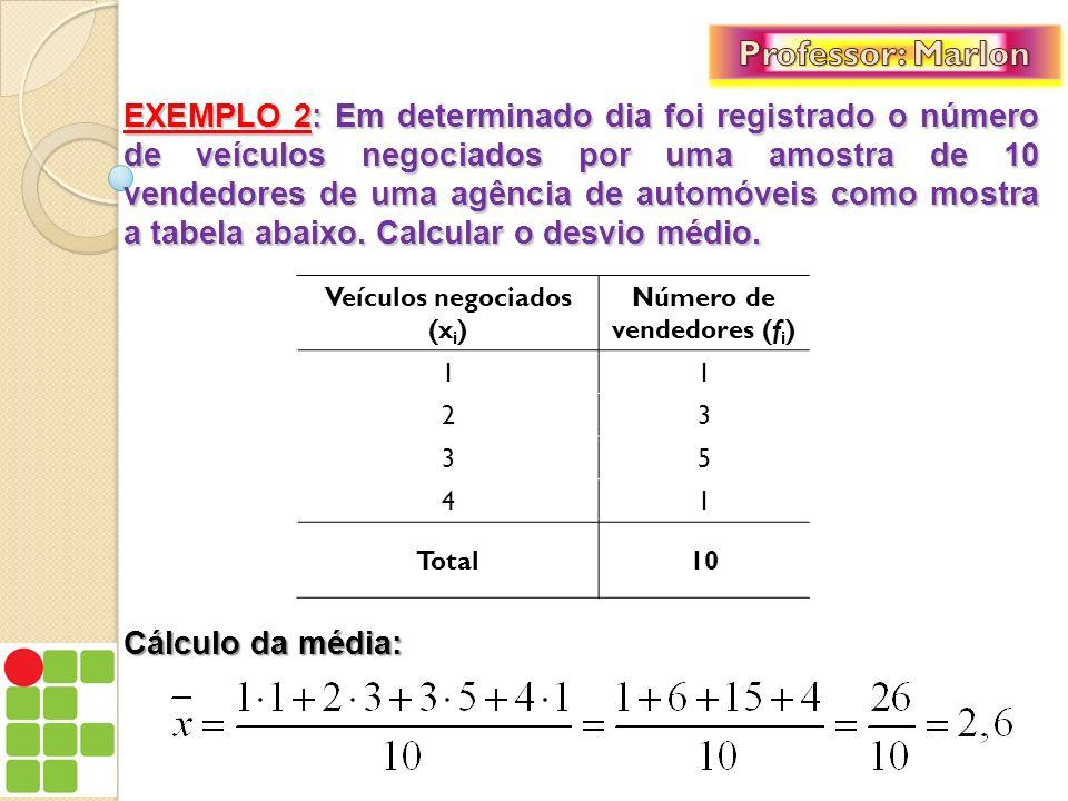 Agora, seria prudente acrescentarmos na tabela duas colunas, onde colocaremos informações que serão úteis ao cálculo do desvio médio.
