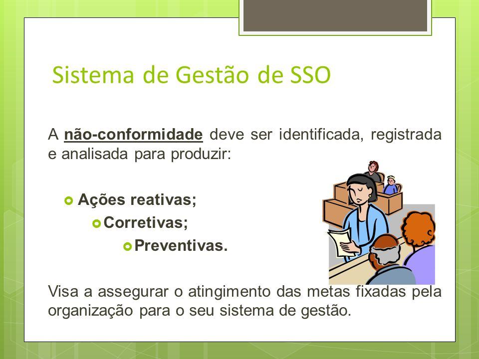 Sistema de Gestão de SSO Visa assegurar o cumprimento de toda a legislação pertinente aplicável, e outros requisitos subscritos por ela ou que são imp