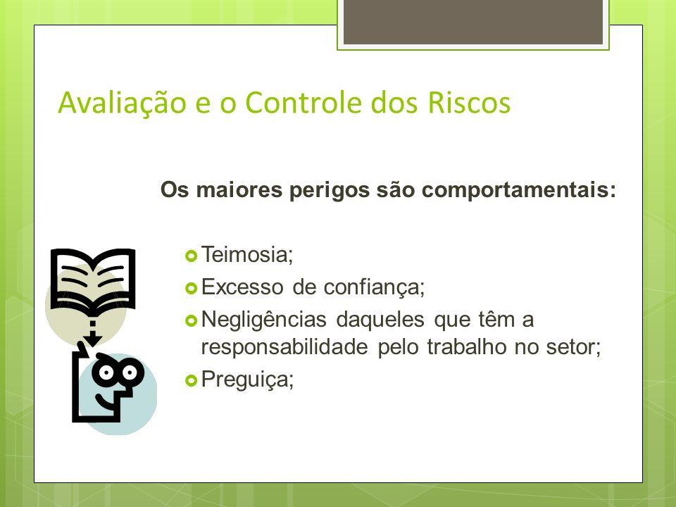 Avaliação e o Controle dos Riscos As ferramentas devem ser utilizadas para : Atividades rotineiras; Atividades eventuais; Grandes acidentes ocorrem em