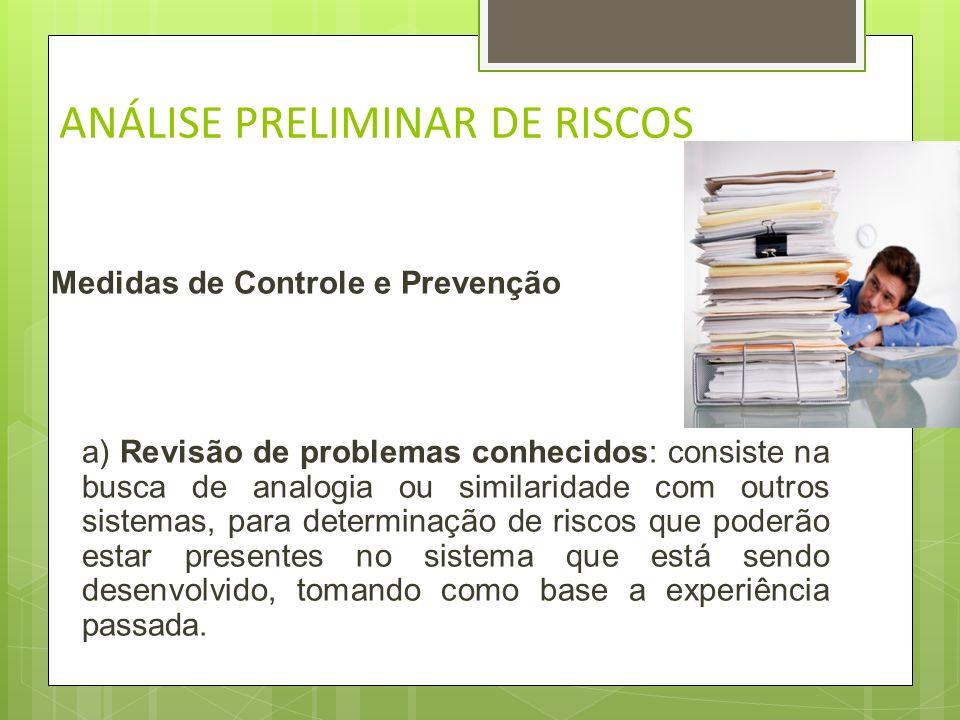 ANÁLISE PRELIMINAR DE RISCOS Descrevendo todos os riscos e fazendo sua caracterização A partir da descrição dos riscos são identificadas as causas (ag