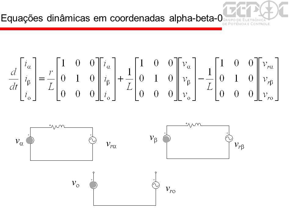 Equações dinâmicas em coordenadas alpha-beta-0 v v v v r