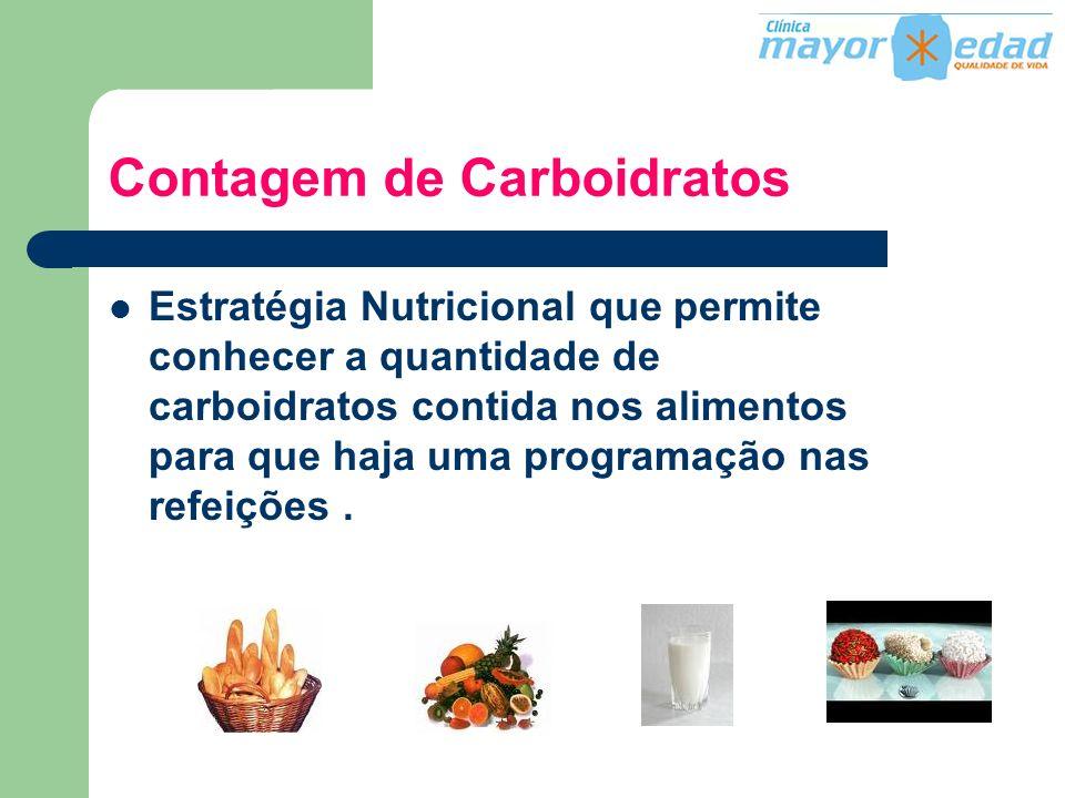 Contagem de Carboidratos Estratégia Nutricional que permite conhecer a quantidade de carboidratos contida nos alimentos para que haja uma programação