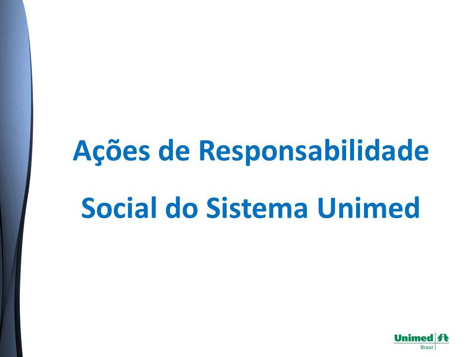Ações de Responsabilidade Social do Sistema Unimed