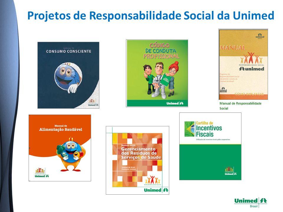Projetos de Responsabilidade Social da Unimed Manual de Responsabilidade Social