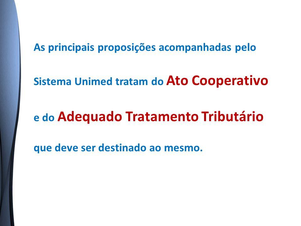 Existem vários dispositivos legais que determinam o estímulo ao cooperativismo e o adequado tratamento tributário ao ato cooperativo.