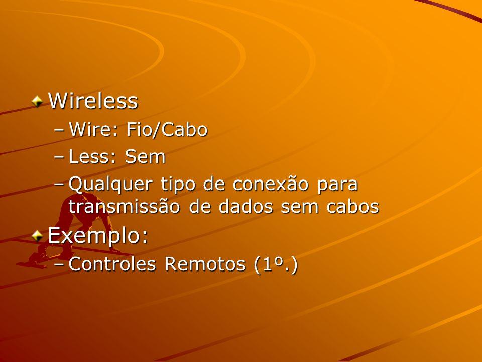 Segmento Wireless apresenta uma aceitação natural; –Audio Link; –Celulares; –Máquinas Fotográficas; –Video Game; – MediaPortal: Sintonizador de TV Digital, Gravador de Video com 250Gb, DVD e roteador de Banda Larga; –TV SlingBox;
