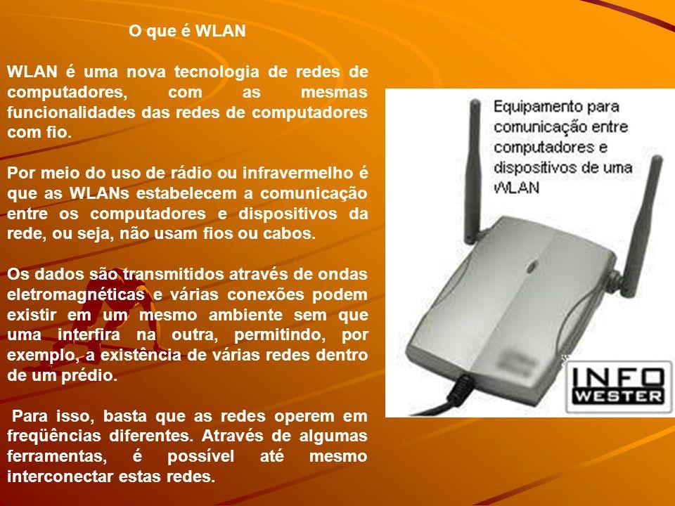Wi-Fi Utilizados em aplicações indoor; Destina-se a WLANs; Meio pode interferir no sinal; Vasta utilização: –Restaurantes; –Aeroportos; –Empresas; –Residências; –Cafés;