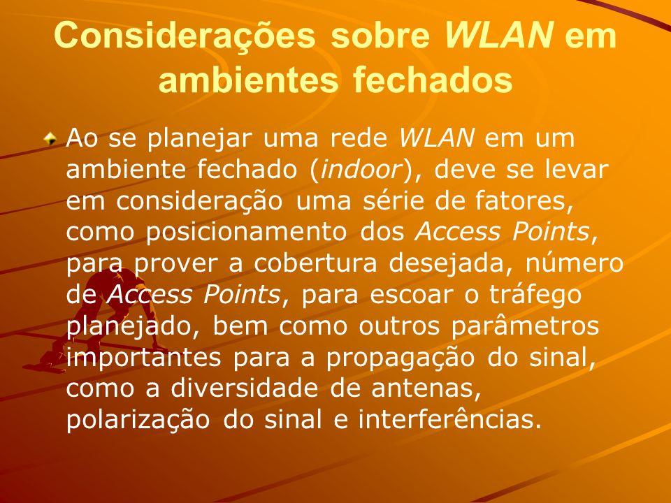 Interferência A freqüência de 2,4 GHz é uma faixa liberada no Brasil e em um grande número dos países, isto é, não é necessário obter nenhum tipo de autorização junto ao órgão responsável local, o que impulsiona ainda mais a utilização de tecnologias que utilizam esta faixa, sejam as WLANs baseadas em 802.11, o Bluetooth (IEEE 802.15) ou outras tecnologias wireless menos conhecidas.