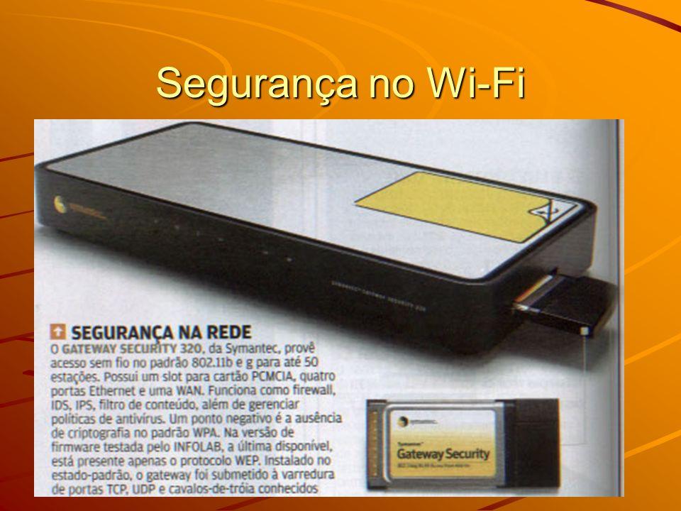 Exemplo de aplicações de hacking Wi-Fi AirSnort - captura vários pacotes da rede Wi-Fi, e lança um brute-force attack para desencriptar a chave WEP.