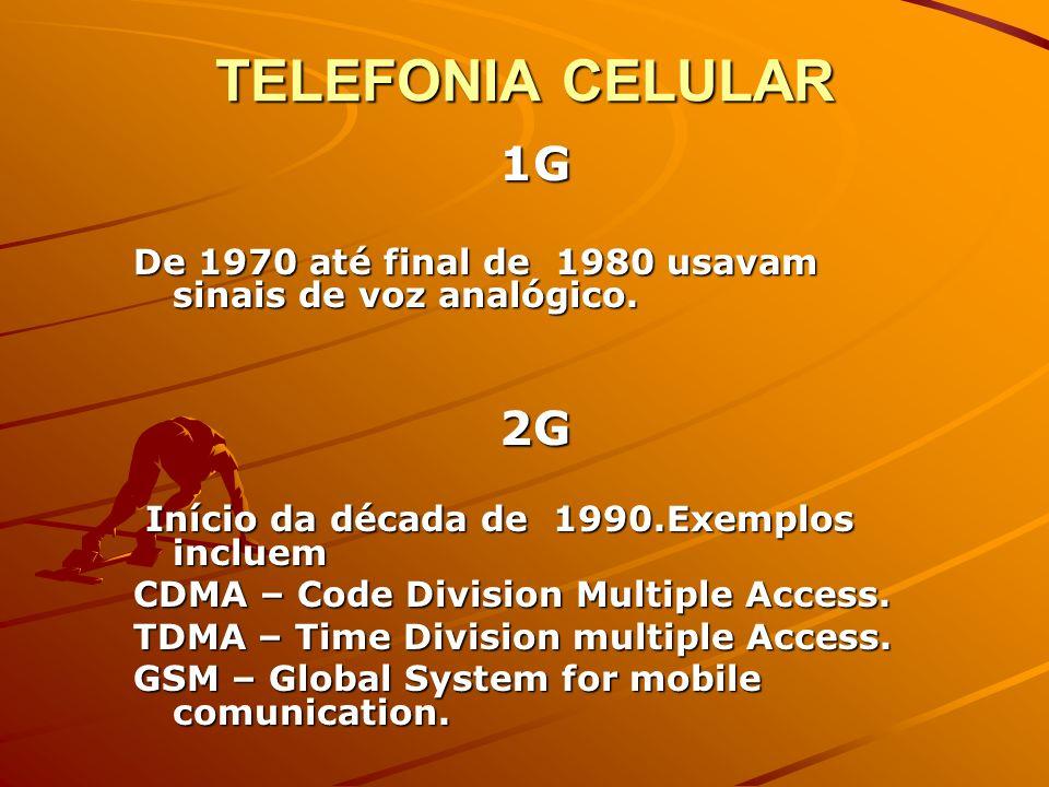 3G 3G : Multimídia aperfeiçoada ( voz, dados, vídeo e controle remoto, telefone celular, paging, fax, videoconferência e navegação na Web ).