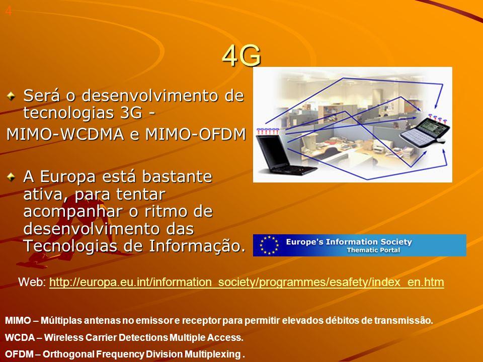 Integração de vários tipos de redes e a futura 5G...