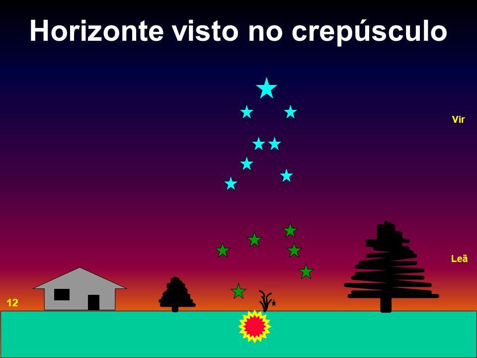 Horizonte visto no crepúsculo 12 Vir Leã