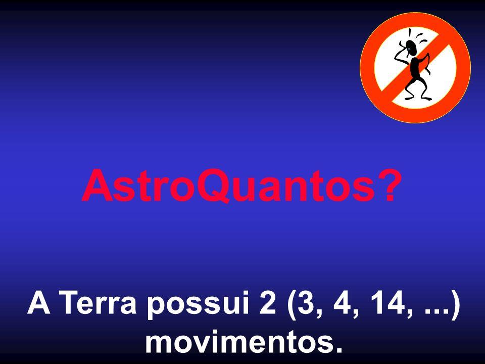 AstroQuantos? A Terra possui 2 (3, 4, 14,...) movimentos.