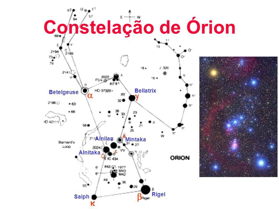 Betelgeuse Rigel Mintaka Alnilan Bellatrix Saiph Alnitaka Constelação de Órion