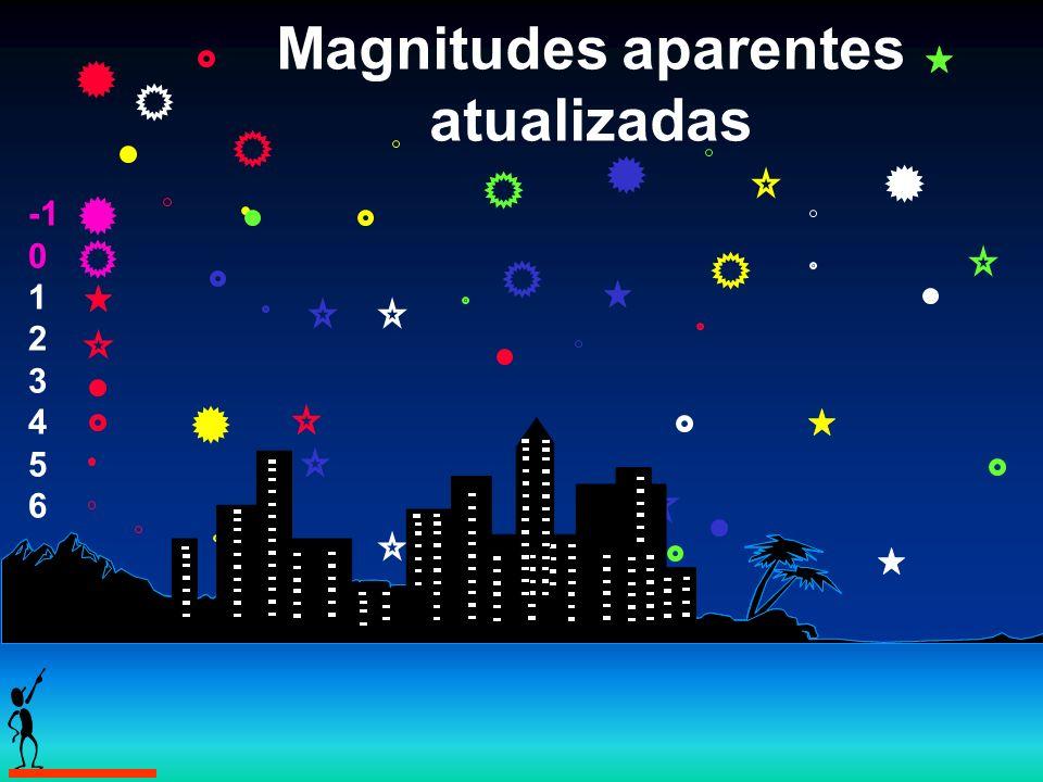 Magnitudes aparentes atualizadas 0 1 2 3 4 5 6