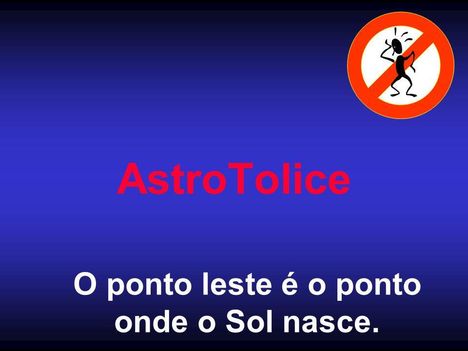 AstroTolice O ponto leste é o ponto onde o Sol nasce.