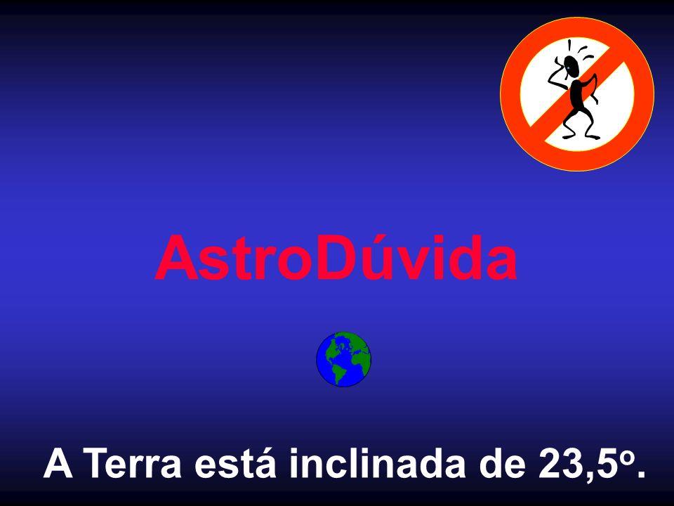 AstroDúvida A Terra está inclinada de 23,5 o.