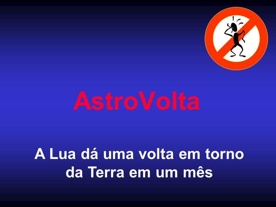 AstroVolta A Lua dá uma volta em torno da Terra em um mês