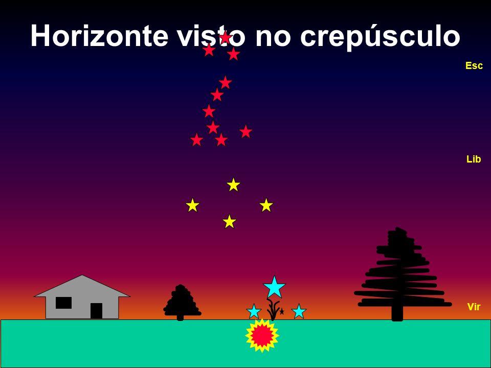 Horizonte visto no crepúsculo Vir Lib Esc