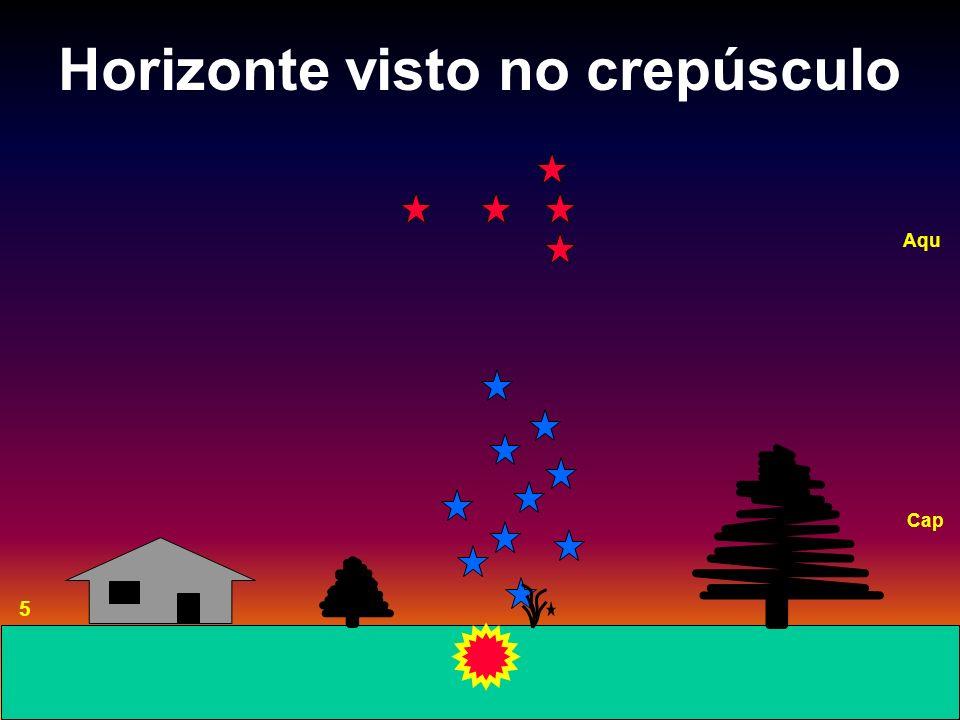 Horizonte visto no crepúsculo 5 Aqu Cap