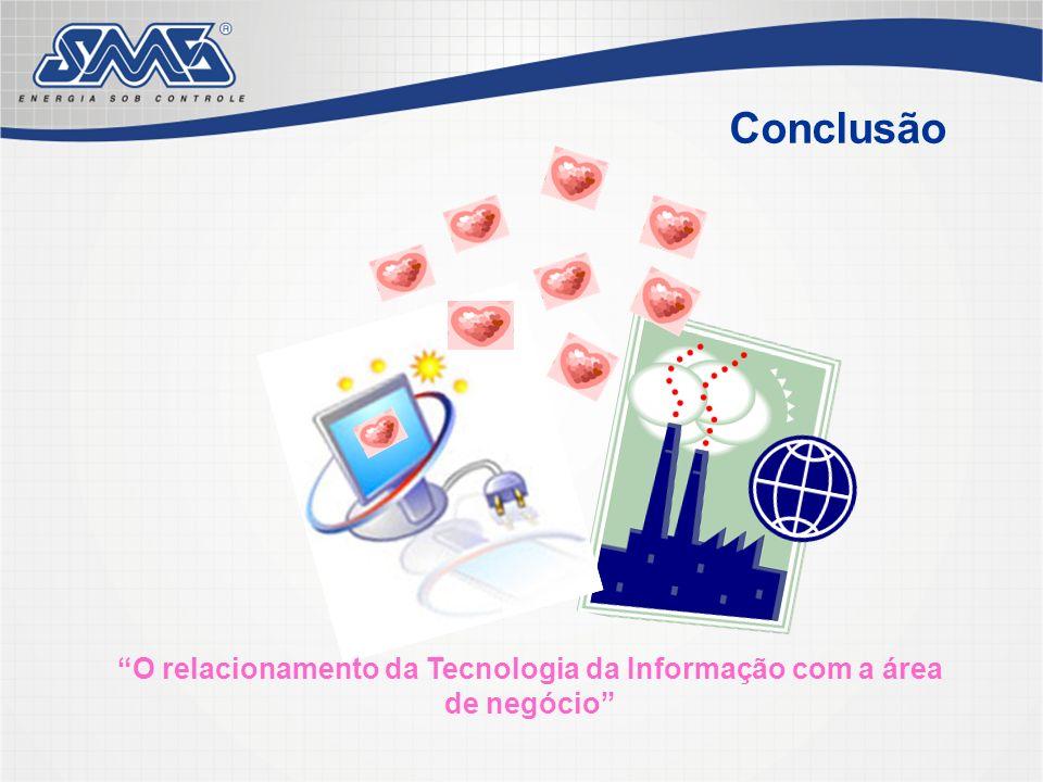 Conclusão O relacionamento da Tecnologia da Informação com a área de negócio