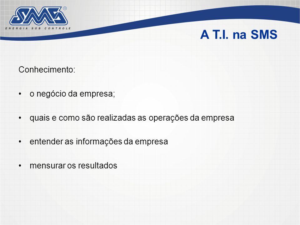 Conhecimento: o negócio da empresa; quais e como são realizadas as operações da empresa entender as informações da empresa mensurar os resultados A T.