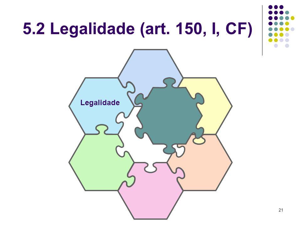 21 5.2 Legalidade (art. 150, I, CF) Legalidade