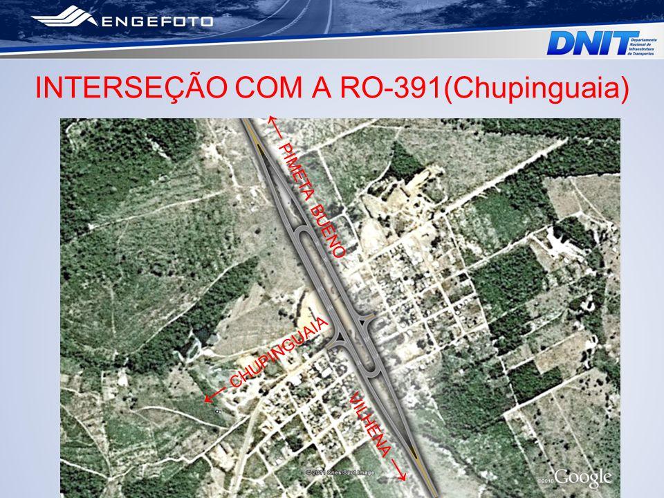 INTERSEÇÃO COM A RO-391(Chupinguaia) VILHENA PIMETA BUENO CHUPINGUAIA