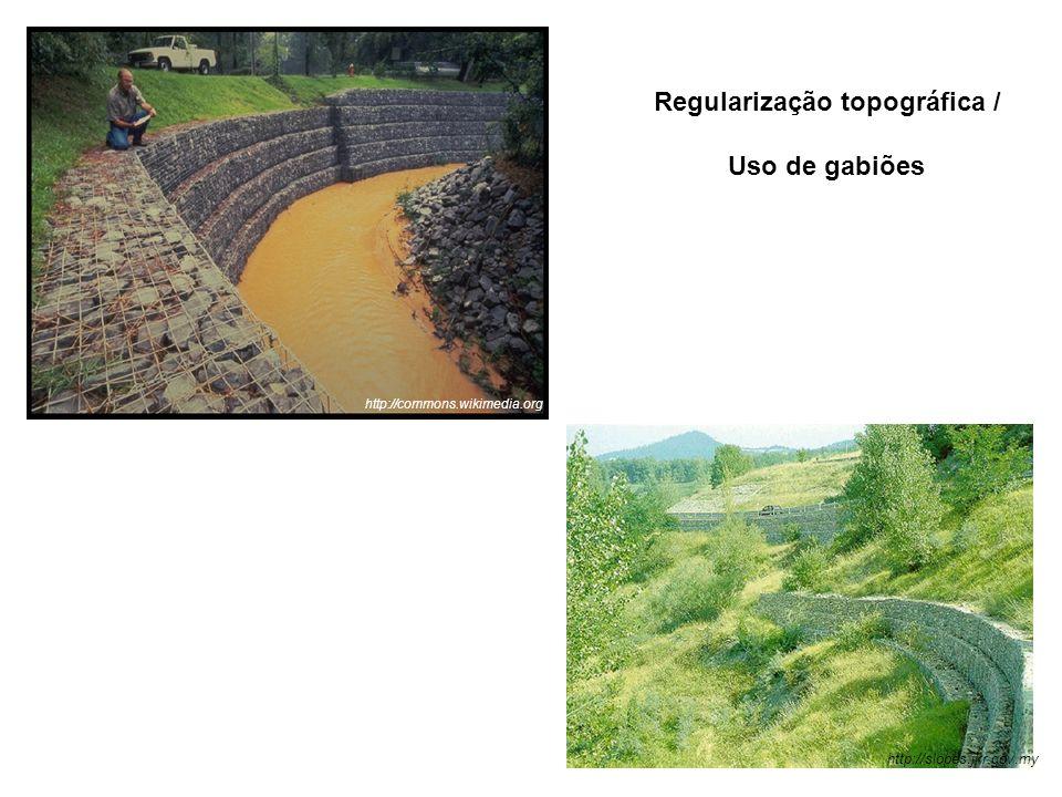 http://slopes.jkr.gov.my http://commons.wikimedia.org Regularização topográfica / Uso de gabiões